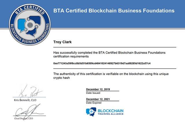 BTA Certified Blockchain Business Foundations — Blockchain Training Alliance